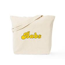Retro Babs (Gold) Tote Bag