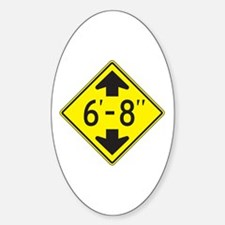 """Tall One 6'8"""" Oval Decal"""