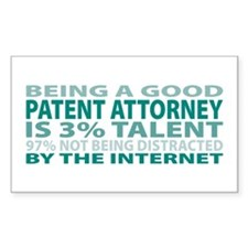 Good Patent Attorney Rectangle Decal