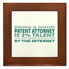 Good Patent Attorney Framed Tile
