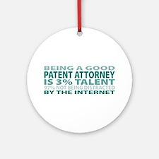 Good Patent Attorney Ornament (Round)