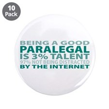 "Good Paralegal 3.5"" Button (10 pack)"