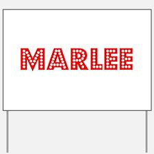 Retro Marlee (Red) Yard Sign