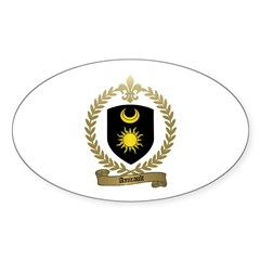 AMIRAULT Family Crest Oval Decal