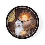 Queen Elizabeth/Coton De Tulear Wall Clock