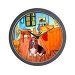 Van Gogh's Room with a Basset - Wall Clock