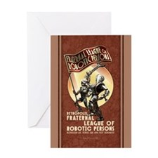 League of Robotic Persons Greeting Card