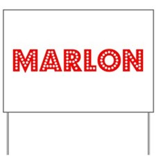 Retro Marlon (Red) Yard Sign