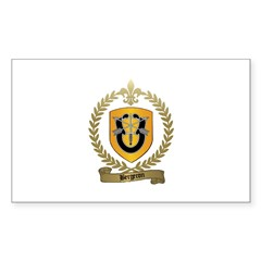 BERGERON Family Crest Rectangle Decal