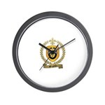 BERGERON Family Crest Wall Clock