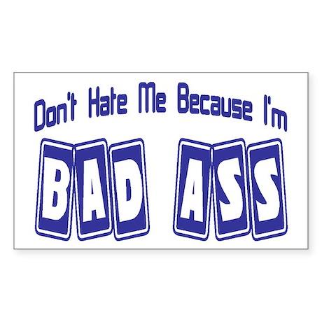 Bad Ass Rectangle Sticker 50 pk)