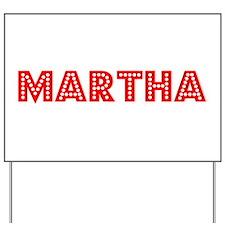 Retro Martha (Red) Yard Sign
