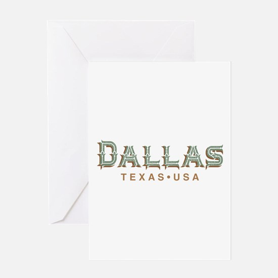 Retro Dallas Greeting Cards