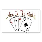 Ace Hole Rectangle Sticker 10 pk)