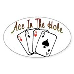 Ace Hole Oval Sticker (50 pk)
