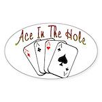 Ace Hole Oval Sticker (10 pk)
