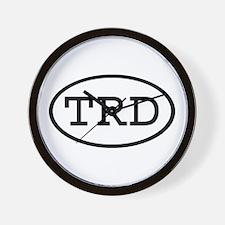 TRD Oval Wall Clock