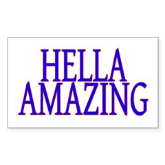 Hella Amazing Rectangle Sticker 50 pk)