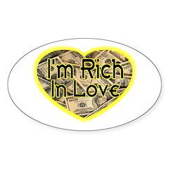 Rich In Love Oval Sticker (50 pk)