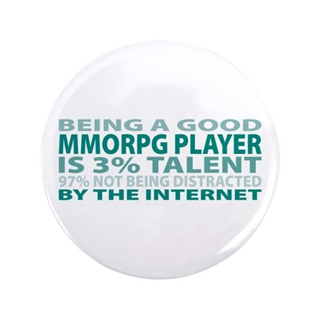 """Good MMORPG Player 3.5"""" Button (100 pack)"""