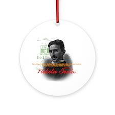 Nikola Tesla Ornament (Round)