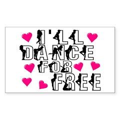 Free Dance Rectangle Sticker 10 pk)