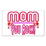 Mom You Rock Rectangle Sticker 10 pk)