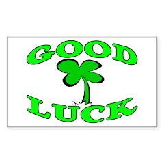 Good Luck Rectangle Sticker 50 pk)