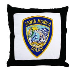Santa Monica PD Throw Pillow