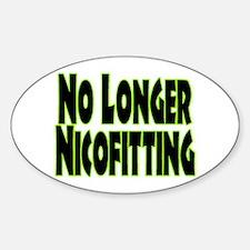 No Longer Nicofitting Oval Sticker (10 pk)