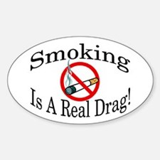 Real Drag Oval Sticker (10 pk)