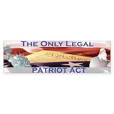 Patriot Act Bumper Bumper Sticker