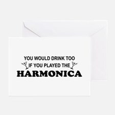 You'd Drink Too Harmonica Greeting Cards (Pk of 10