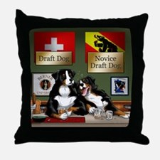 """Draft Dogs"" Throw Pillow"