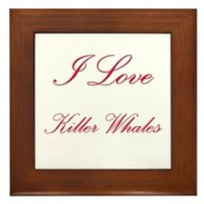 I Love Killer Whales Framed Tile
