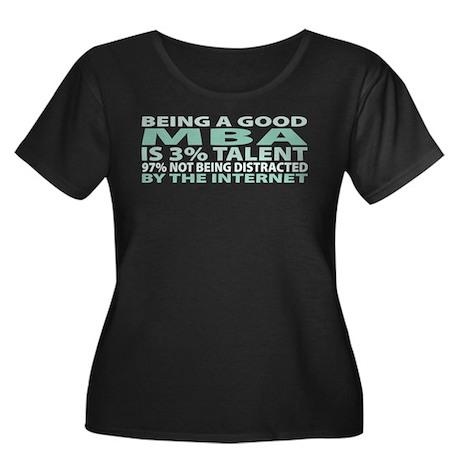Good MBA Women's Plus Size Scoop Neck Dark T-Shirt