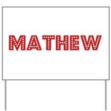 Retro Mathew (Red) Yard Sign