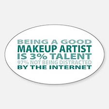 Good Makeup Artist Oval Decal