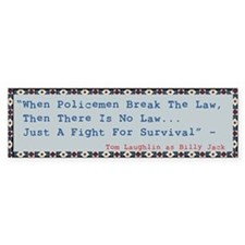 Billy Jack Quote Bumper Car Sticker