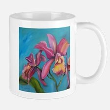 Pink and Tourquoise Orchid Ti Mug