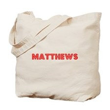 Retro Matthews (Red) Tote Bag
