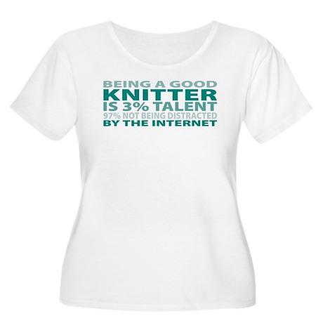 Good Knitter Women's Plus Size Scoop Neck T-Shirt