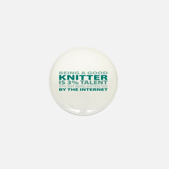 Good Knitter Mini Button