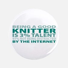 "Good Knitter 3.5"" Button"