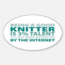Good Knitter Oval Decal