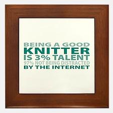 Good Knitter Framed Tile