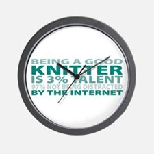 Good Knitter Wall Clock
