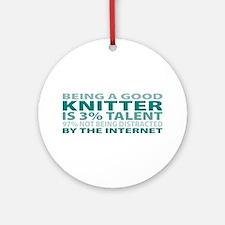Good Knitter Ornament (Round)