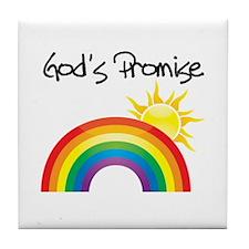 God's Promise Tile Coaster