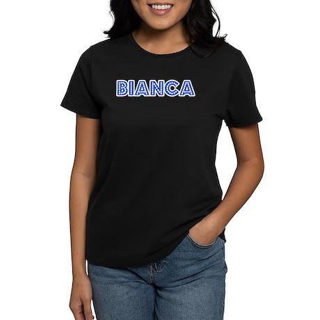 Retro Bianca (Blue) Women's Dark T-Shirt